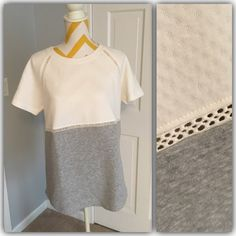 NWT Lou & Grey short sleeved color block shirt NWT Lou & Grey color block short sleeve shirt. So comfy! sweatshirt like. LOFT Tops