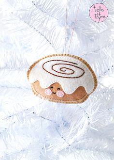 Patrón PDF helado bollo pegajoso otoño Navidad por sosaecaetano