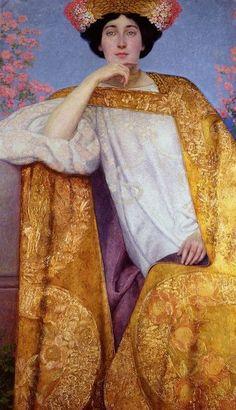 Portrait of a Woman in a Golden Dress by Gustav Klimt, 1901-02.