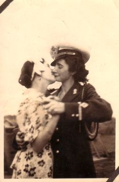 The captain's girl - c. 1940s -