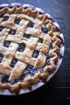 Berry Filling: 6 cups fresh or frozen blueberries 1 cup, plus 1 tablespoon sugar (more for sprinkling over the top crust) 1/4 cup cornstarch 1/4 teaspoon nutmeg 1 1/2 teaspoons freshly grated ginger (or 1 teaspoon ground dry ginger) 1/2 teaspoon lemon zest 1 teaspoon lemon juice 3 tablespoons butter, cut into small pieces egg wash (1 egg whisked with 1 tablespoon water)