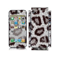 Animal Pattern Skin Cover Screen Protector for Apple iPhone 5 (Style 3) [CCSK-PHVPL19] - $12.00 : Leopard 4