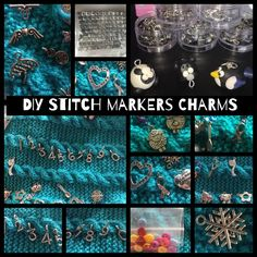 DIY CHARMS for DIY Stitch Markers - silver, plated, coloured metal and more by MagpieLaneCrafts on Etsy