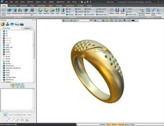 Check out this beautiful ring in #ZW3D! To see more or to download it. #Design