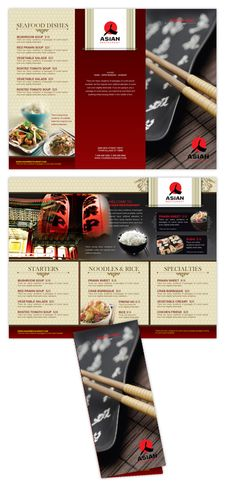 Asian Restaurant menu template #menu
