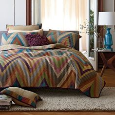 My new quilt =)  Chevron Chambray Yarn-Dyed Quilt | The Company Store
