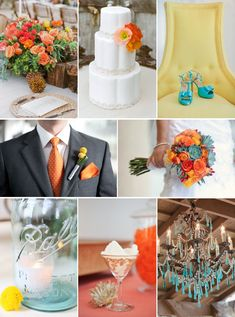 Wedding-color-palettes-inspiration-orange-yellow-succuent-green-3.full