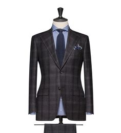 This cloth is a Dark Grey with a Medium Grey Check. Cloth Weight: 270g Composition: 100% Wool