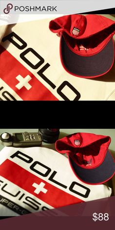 314dc27ff1c Polo crew neck shirt   k Swiss hat . brand new Suisse Super-G Racing