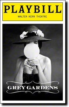 Playbill Cover for Grey Gardens at Walter Kerr Theatre - Black and White, Jan 2007