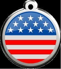 Stars and Stripes Pet Id Tag  Size Small * Read more reviews of the product by visiting the link on the image.