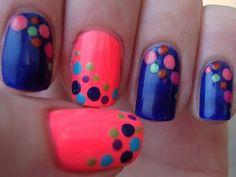 Pokadot nail art