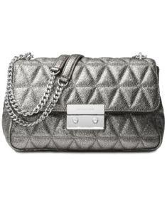 29eb539220d6 Michael Kors Sloan Large Chain Shoulder Bag   Reviews - Handbags    Accessories - Macy s