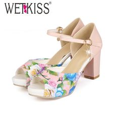 Here is a sneak peak at what's new and fresh at Costbuys today WETKISS Fashion T... see for yourself and don't ever doubt again http://www.costbuys.com/products/wetkiss-fashion-thick-heels-ankle-strap-mary-jane-sandals-flower-print-color-matching-peep-wedding-sandals-platform-sandals?utm_campaign=social_autopilot&utm_source=pin&utm_medium=pin