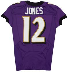 The jersey worn by the Baltimore  Ravens Jacoby Jones on his record-tying  KOR ec025786b