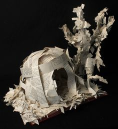 Student Artwork, Clara Lieu, Senior Portfolio Class, RISD Project Open Door, Book sculptures, 2016