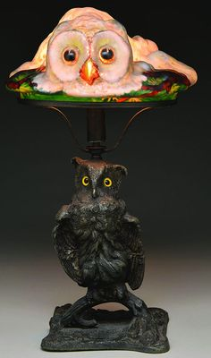 Pairpoint Puffy Owl Lamp.  Pretend it was your grandmother who had this.