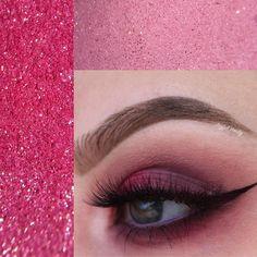Pink and purple glam eye makeup