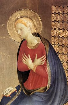 Fra Angelico ~ The Cortona Altarpiece, Annunciation, (detail 2), 1433-34