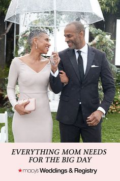 "Macy's Weddings & Registry | Macy's Wedding Shop has everything you need for you & your ""I Do"" crew. Shop mother of the bride dresses, suits & tuxes for dad, and everything else for your wedding party all in one place. Black Love, Beautiful Black Women, Hair Icon, Renewal Wedding, Groom Attire, Cute Couples, Mother Of The Bride, Bridal Dresses, Polish Wedding"