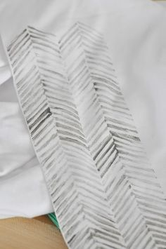 my sparkle: Herringbone Fabric Printing Tutorial