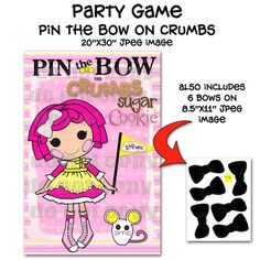 lalaloopsy party game - This etsy shop has a lot of party printables.