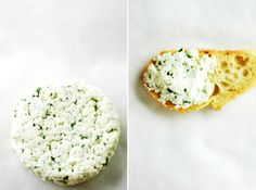 Homemade goat cheese with basil (recipe calls for parsley) and garlic. I've made it 3 times and each time it was fantastic. Get yourself some cheesecloth, goats milk, and lemon juice!