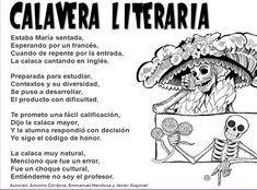 Calaveritas Literarias Calaveras Literarias Literario Calaveras