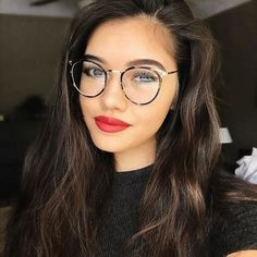 Colors For Skin Tone, Lip Colors, Best Eyeglass Frames, Best Long Lasting Lipstick, Best Eyeglasses, Long Wear Lipstick, Cheap Online Shopping, Cat Eye Glasses, Girls With Glasses