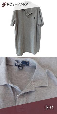 Quintessential Ralph Lauren gray heather polo Size L Ralph Lauren Shirts Polos