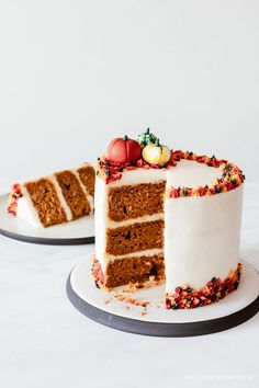 This Pumpkin Spice Cake with Cream Cheese Frosting recipe is featured in the Cakes feed along with many more. Frosting Recipes, Cupcake Recipes, Baking Recipes, Cupcake Cakes, Cupcakes, Thanksgiving Cakes, Pumpkin Spice Cake, Poke Cakes, Layer Cakes