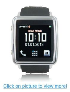 Signstek Smartwatch Supports Quad-Band GSM Bluetooth Cell Phone, Music and Video Multimedia Player, FM radio, Camera, Sync calls to iPhones, Android Phones, Bluetooth Phones, Comes with 8GB Micro-SD Memory Card #Signstek #Smartwatch #Supports #Quad_Band #GSM #Bluetooth #Cell #Phone #Music #Video #Multimedia #Player #FM #radio #Camera #Sync #calls #iPhones #Android #Phones #Comes #8GB #Micro_SD #Memory #Card