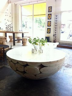 'Big Log' table from Mark Tuckey in Melbourne.
