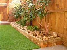 Garden Ideas For Small Spaces Vertical Planter backyard garden design water walls.Backyard Garden On A Budget Home. Small Front Yard Landscaping, Backyard Landscaping, Landscaping Ideas, Backyard Ideas, Modern Backyard, Creative Garden Ideas, Simple Garden Ideas, Garden Edging Ideas Cheap, Railroad Ties Landscaping