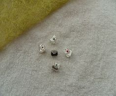 LOT DE 5 PERLES INTERCALAIRES MIXTES SACS A MAIN EN METAL ARGENTE ET STRASS : Perles en Métal par breloques-et-bijoux