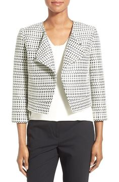 Classiques Entier® Asymmetrical Crop Tweed Jacket (Regular & Petite) available at #Nordstrom