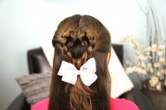 Twist-Braided Heart {5-min video tutorial} #ValentinesDay #Hearts #Hairstyles