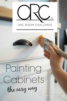 Week two ORC: Painting Kitchen Cabinets the Easy Way and some