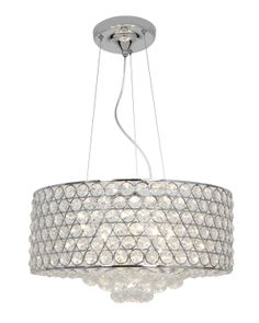 Access Lighting Kristal 6 Light Cable Pendant In Chrome With Clear Crystal Glass Crystal Pendant Lighting, Drum Pendant, Light Pendant, Lighting Sale, Discount Lighting, Drum Shade, Drums, Pendants, Drum