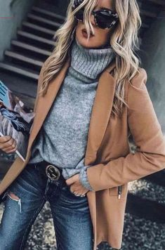 Mode femme pull gris - Lilly is Love Winter Outfits For Teen Girls, Casual Winter Outfits, Cool Outfits, Fashion Outfits, Womens Fashion, Style Fashion, Fashion Top, Casual Fall, Work Fashion