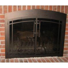 7 best new fireplace doors images fireplace glass doors doors rh pinterest com Home Depot Fireplace Doors Fireplace Enclosures