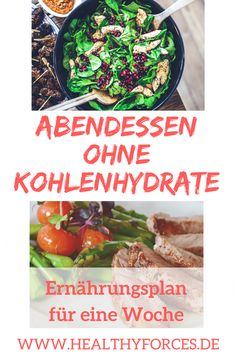 Abendessen ohne Kohlenhydrate: Ernährungsplan für eine Woche You want to eat at night and still lose weight in the long term? Dinner without carbohydrates could become your secret of success. Here is the free meal plan for a week! Detox Recipes, Smoothie Recipes, Healthy Recipes, Nutrition Plans, Diet And Nutrition, Law Carb, Eating At Night, Free Meal Plans, Eating Habits