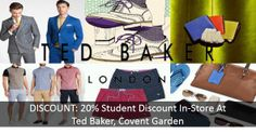 DISCOUNT: 20% In-Store Student Discount at Ted Baker Covent Garden!