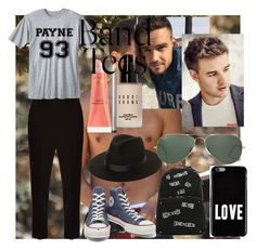 """A day with liam payne"" by isaiahkiss ❤ liked on Polyvore featuring Payne, The Row, Converse, Bobbi Brown Cosmetics, Givenchy, Lack of Color, Laura Mercier, Ray-Ban and vintage"