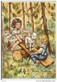 Soloillustratori: Perle Old Postcards, Images, Bunny, Clip Art, Easter, Pretty, Painting, Beautiful, Vintage Illustrations