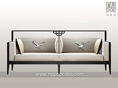 Chinese Sofa, New Chinese, Chinese Style, Furniture Styles, Metal Furniture, Sofa Furniture, Furniture Design, Chinese Interior, Asian Interior