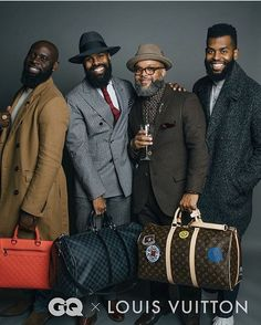 All are wrapped in structured tailored, and cool threads. The clean cut, groomed beard is also a plus. All are wrapped in structured tailored, and cool threads. The clean cut, groomed beard is also a plus. Black Men Beards, Handsome Black Men, Sharp Dressed Man, Well Dressed Men, Stylish Men, Men Casual, Herren Outfit, Mens Fashion Suits, Beard Fashion