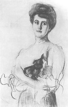 Valentin Serov (1865 –  1911) -  Portrait Yelizaveta Karzinkina, 1905