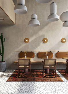 restaurant design cafe on Behance Coffee Shop Interior Design, Coffee Shop Design, Bar Interior, Restaurant Interior Design, Interior Design Inspiration, Design Ideas, Interior Concept, Interior Ideas, Interior Styling