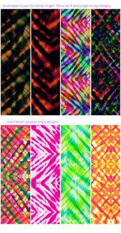 Tie dye and ikats https://creativemarket.com/rosapompelmo